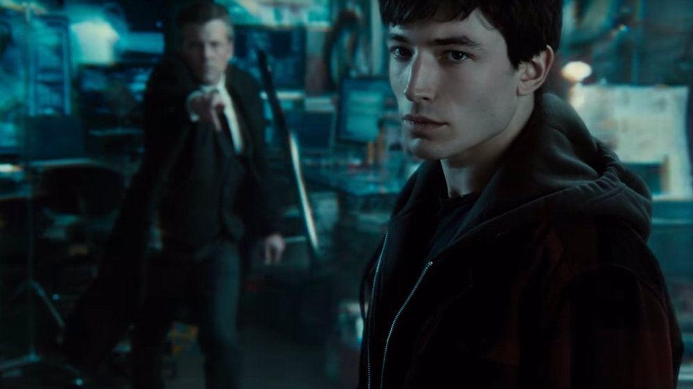 Ben Affleck and Ezra Miller in Justice League