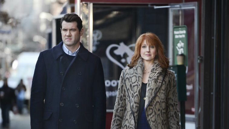 Billy Eichner and Julie Klausner in Difficult People