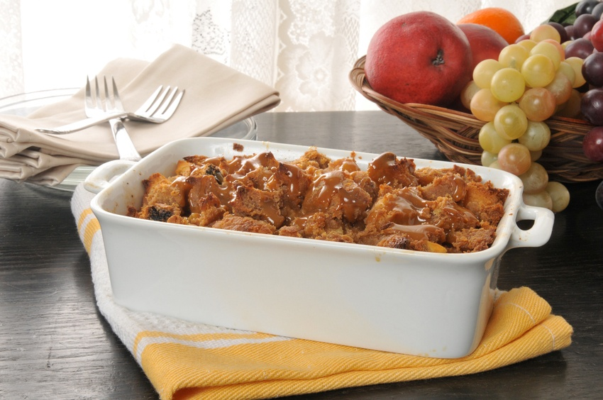Bread pudding with caramel butterscotch