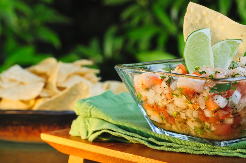 tilapia ceviche with lime