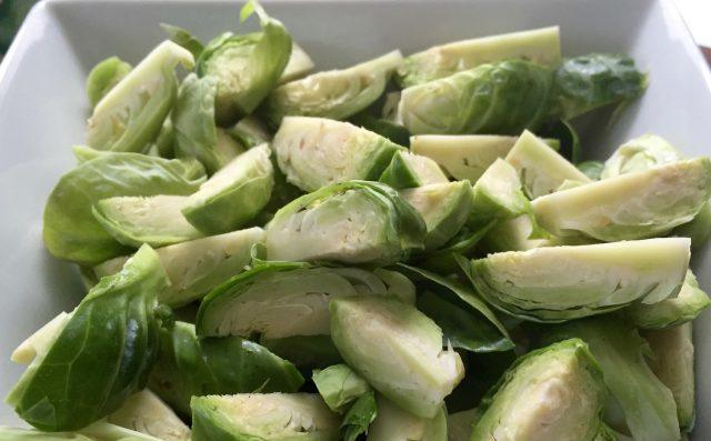 trimmed and chopped Brussels sprouts