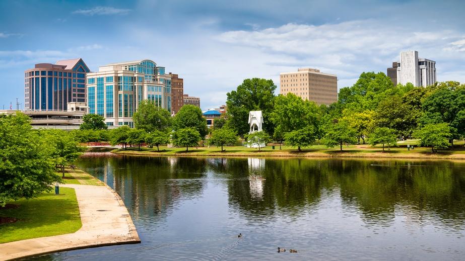 scene of downtown Huntsville, Alabama