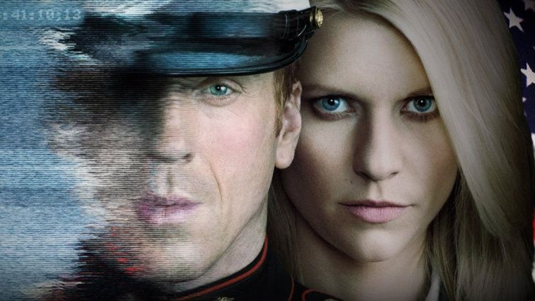Damian Lewis and Claire Danes in Homeland