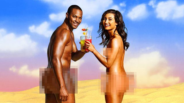 Two people on 'Dating Naked'.