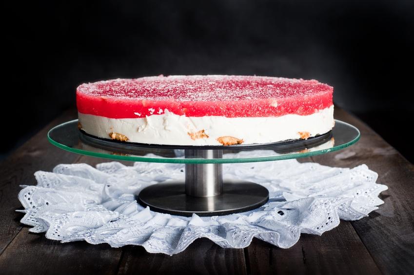 Diet seasonal cake with watermelon