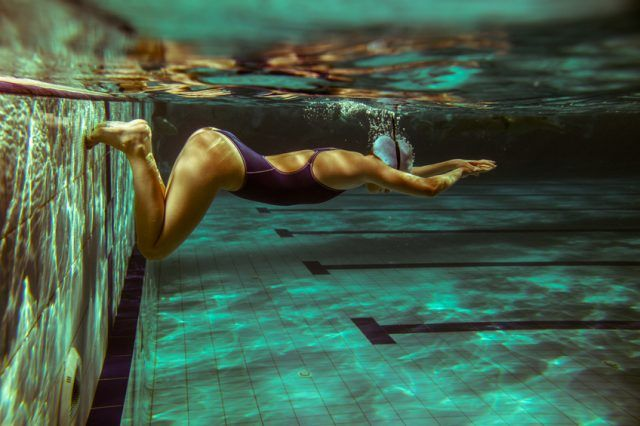 Swimming is an effective workout for burning calories.