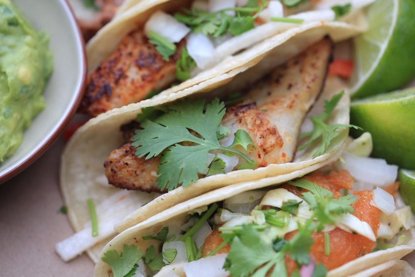 Close up of fish Tacos