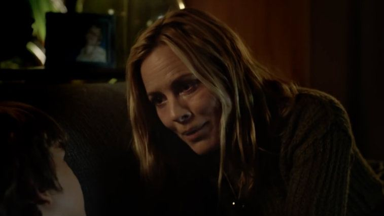 Gabriel Bateman and Maria Bello. Acting is the primary Maria Bello makes her money.