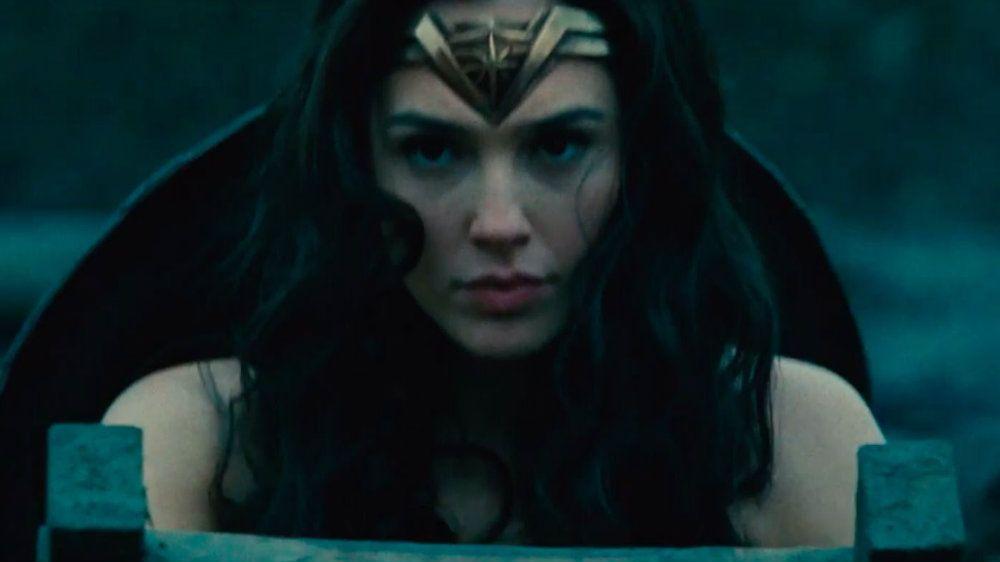 Gal Gadot in Wonder Woman looking very serious