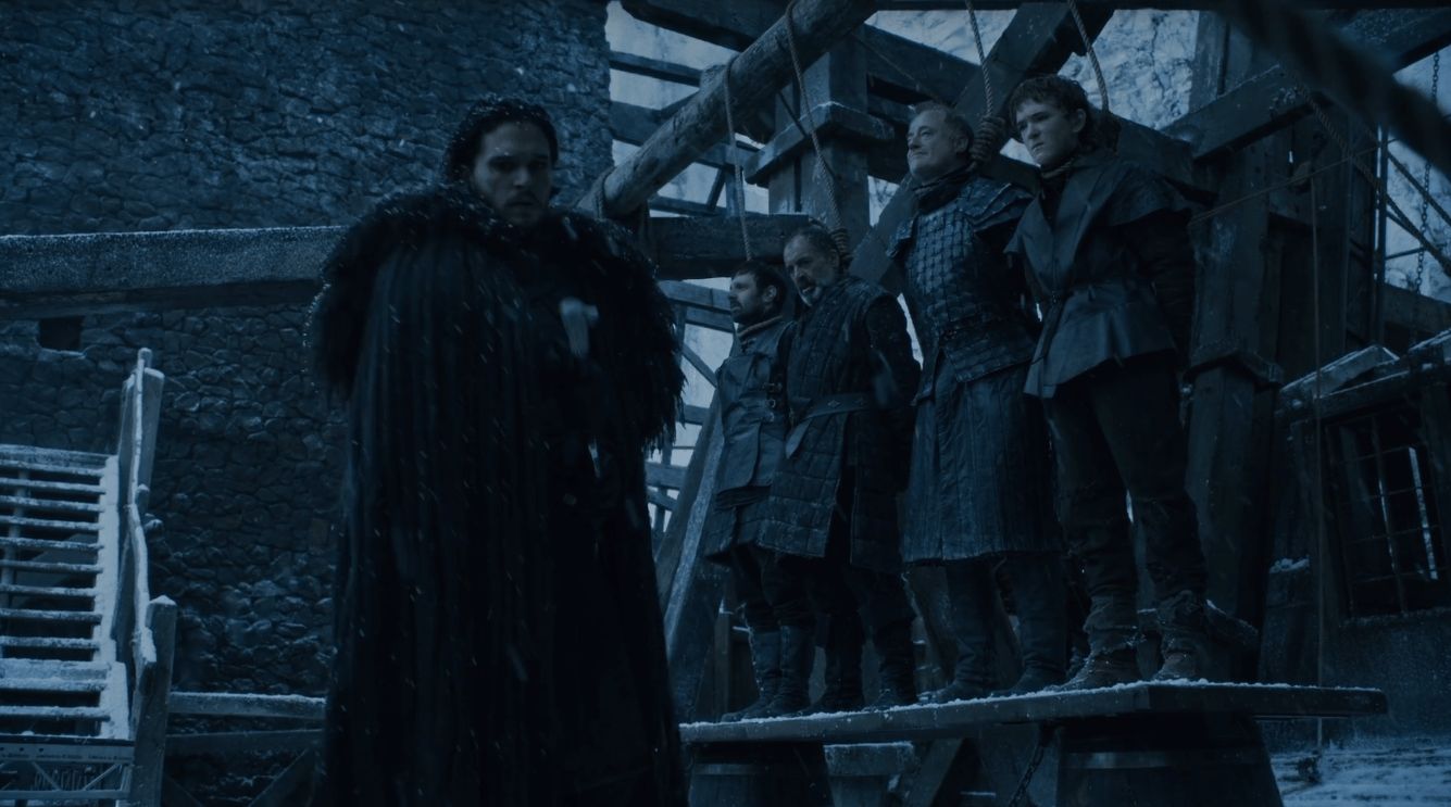 Jon Snow Hangs the Night's Watch Traitors