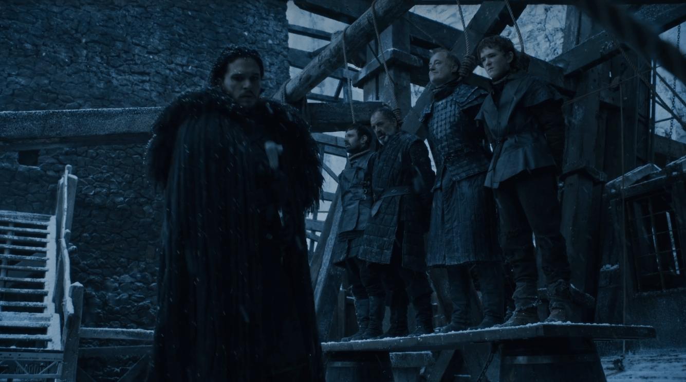 Jon Snow Hangs the Night's Watch Traitors