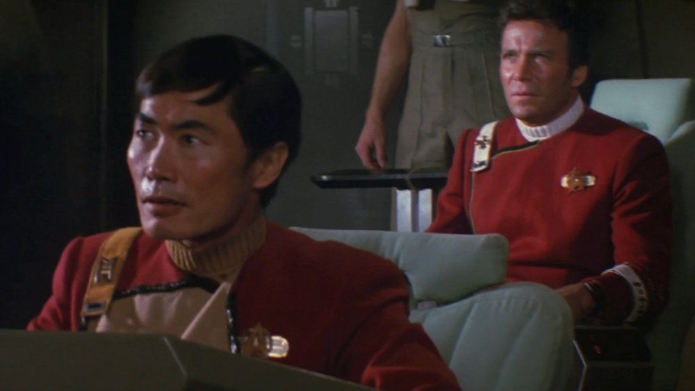George Takei and William Shatner in Star Trek