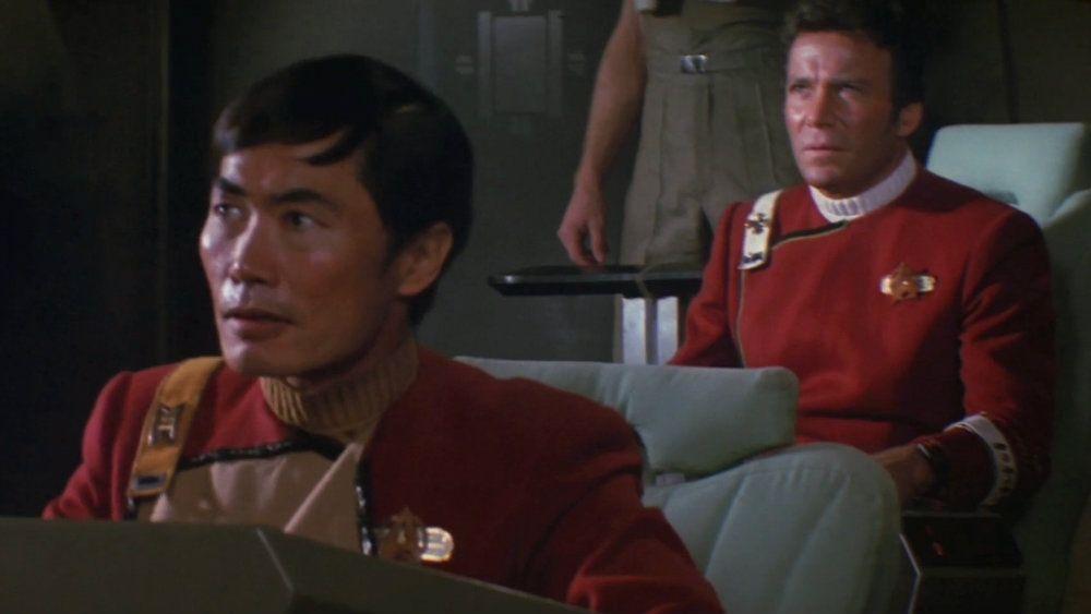 George Takei and William Shatner in Star Trek