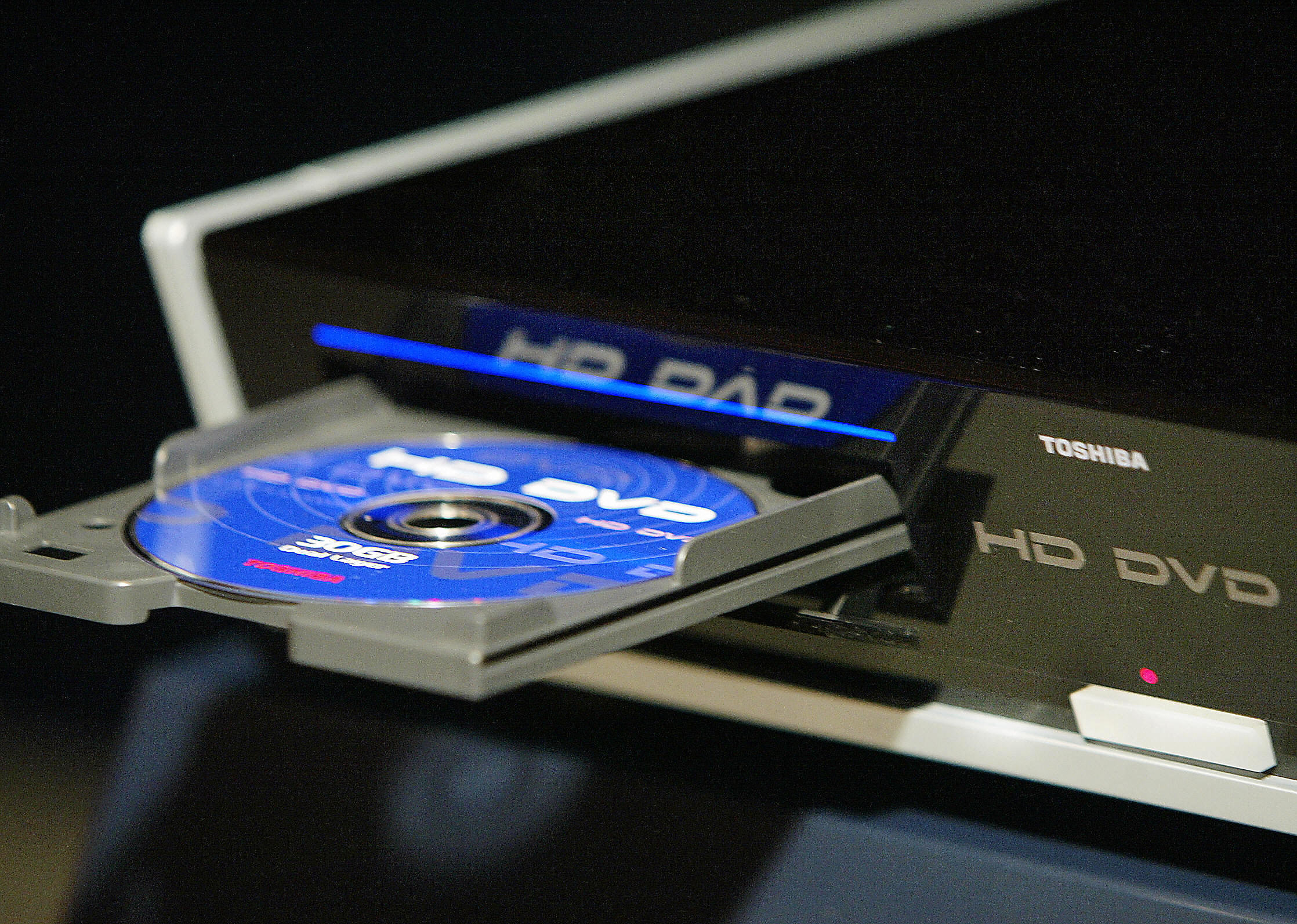 Toshiba unveils the prototype model of their new high-definition DVD (HD-DVD) player