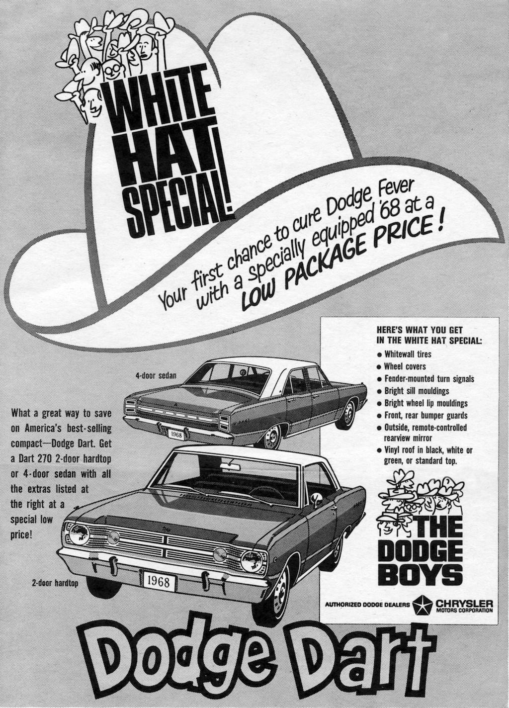 1968 Dodge Dart advertisement