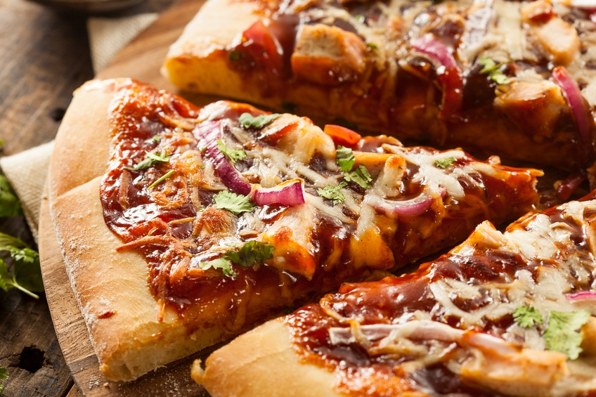 Close up of Barbecue Chicken Pizza
