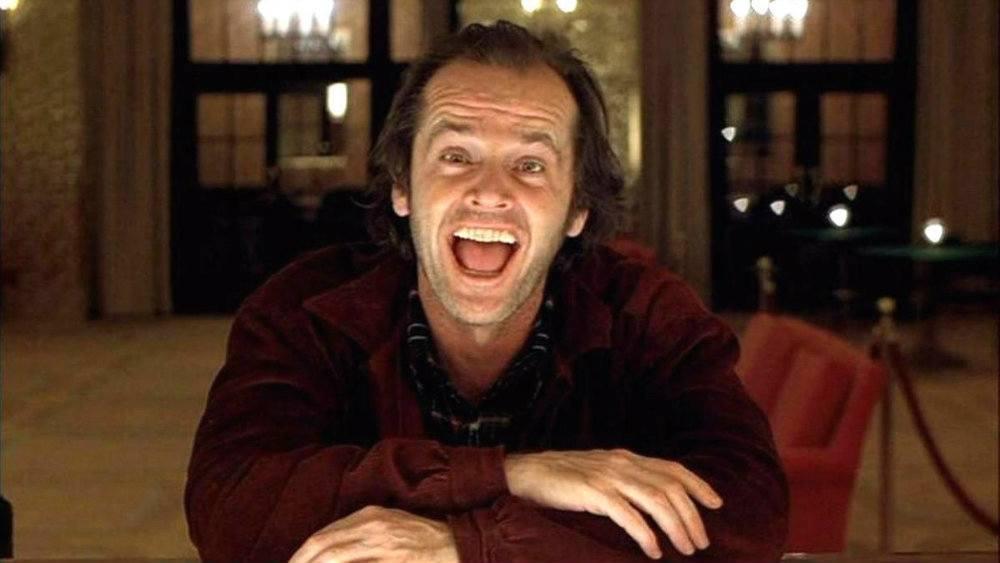 "Jack Nicholson in ""The Shining"""