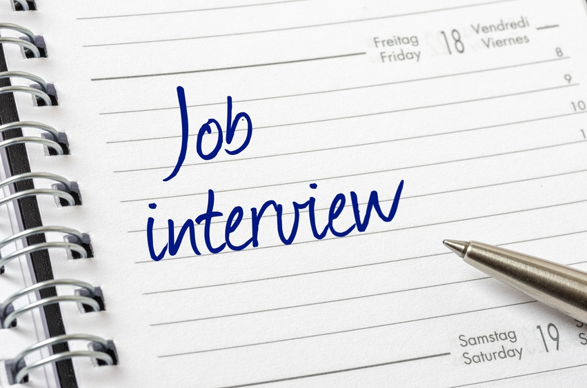 Job interview on calendar
