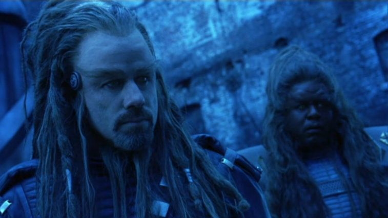 John Travolta and Forest Whitaker in Battlefield Earth