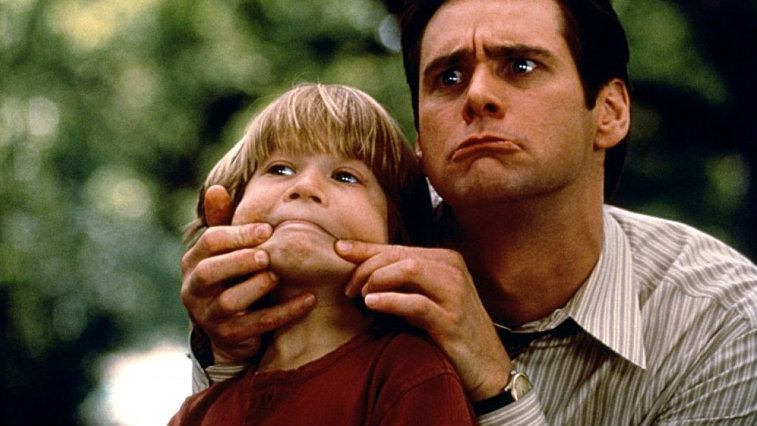 Justin Cooper and Jim Carrey in Liar Liar