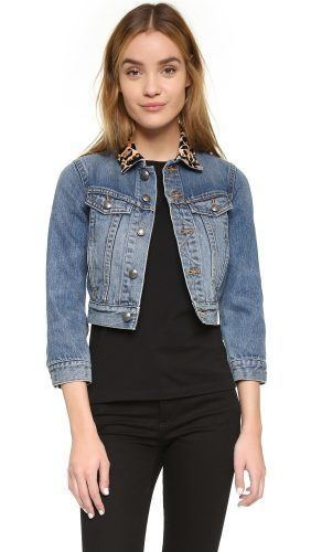 shrunken denim jacket, cropped jean jacket
