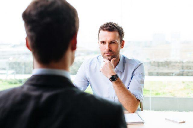 candidate in a job interview, job advice