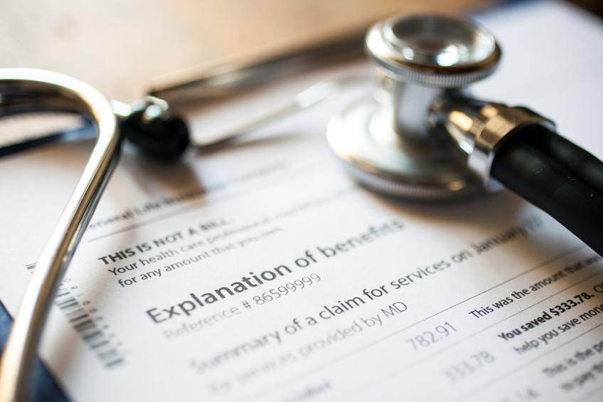 Sthethoscope on medical documents
