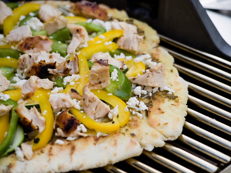 gourmet grilled pizza