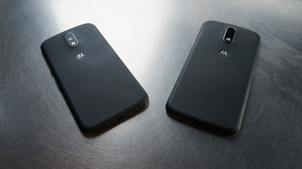 Moto G4 and Moto G4 Plus side by side