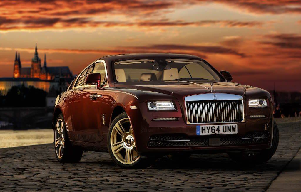 View of Rolls Royce Wraith at sundown