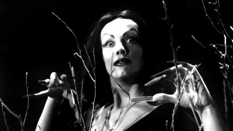 Lady with long fingernails in Plan 9 from Outer Space
