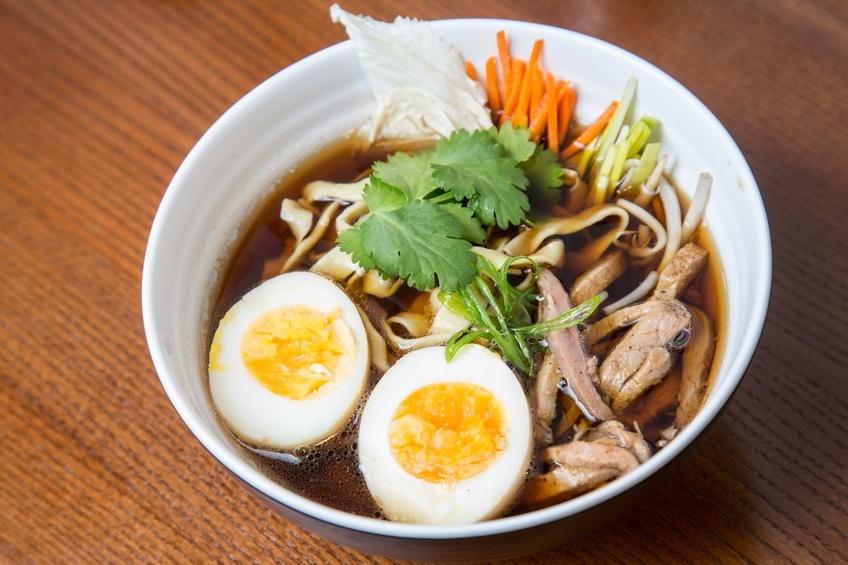 Ramen soup with eggs