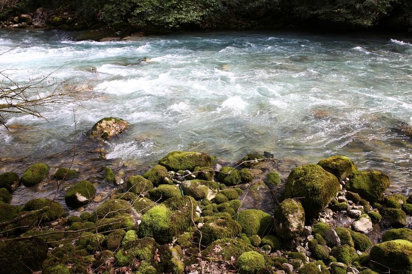 Rapid mountain river