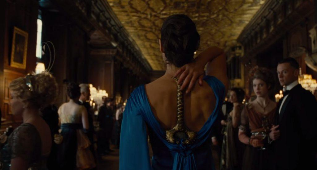 Wonder Woman (Gal Gadot) walks with her sword fastened on to her back