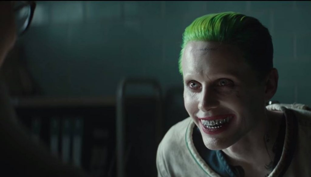 Jared Leto dons green hair and face paint as The Joker in Suicide Squad