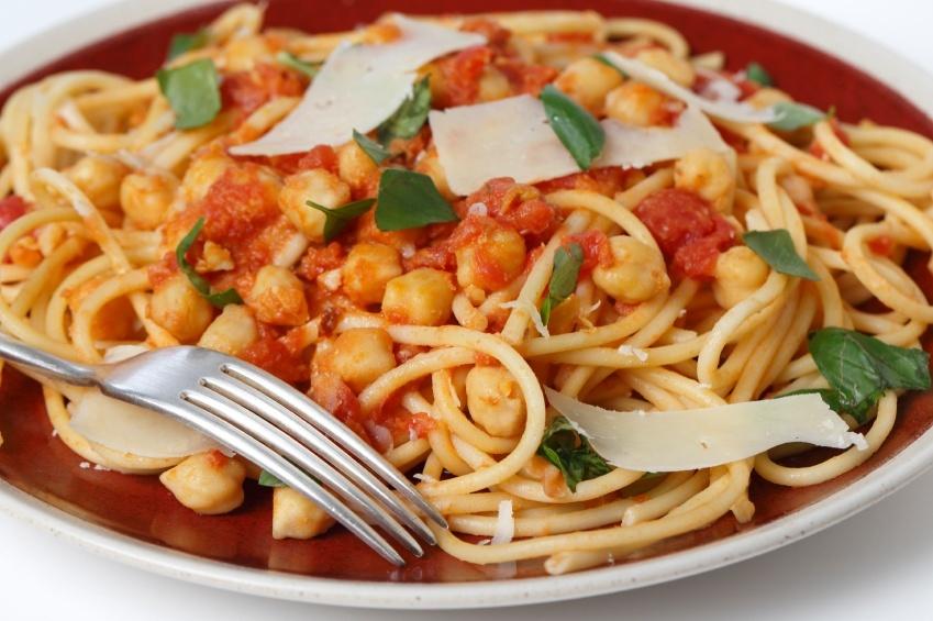 Spaghetti and chickpeas