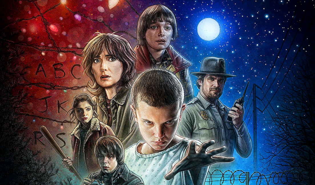 Promotional poster for Stranger Things