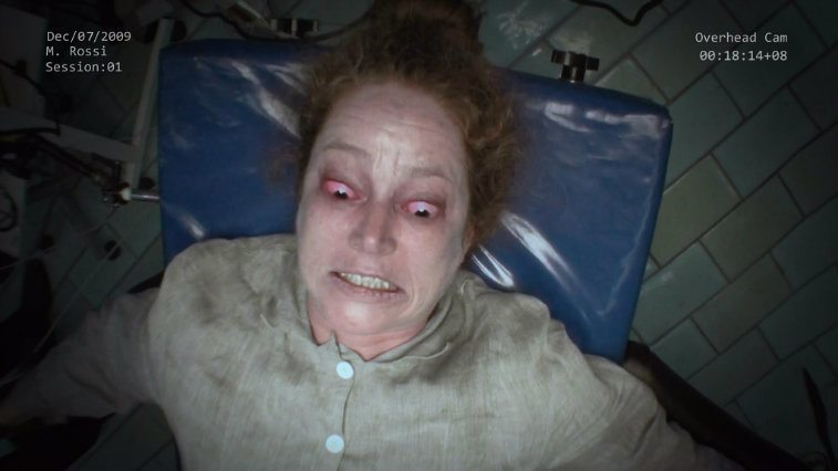 A female undergoes an exorcism in The Devil Inside