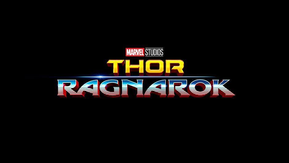 Thor: Ragnarok logo on a black background
