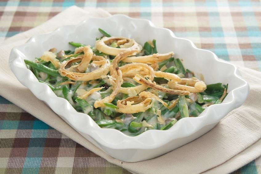 dish of green bean casserole