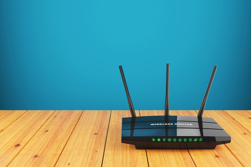 Wi-Fi wireless router on a table