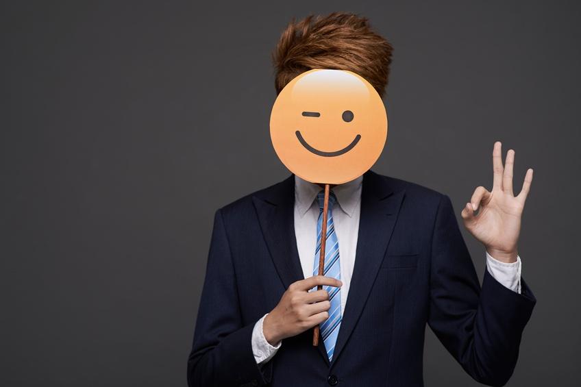 Businessman showing ok sign