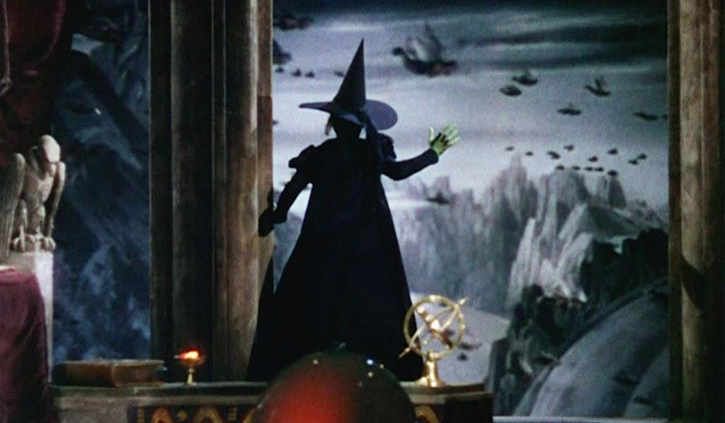 The Wicked Witch of the West Sends Her Flying Monkeys Away.