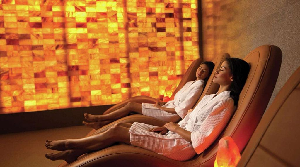 women relaxing at a spa