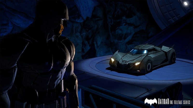 Batman and the Batmobile.