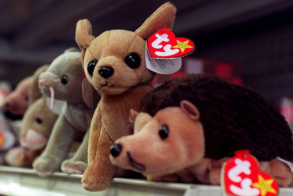 Beanie Babies on a shelf