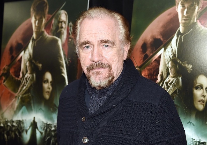 Actor Brian Cox poses on the red carpet