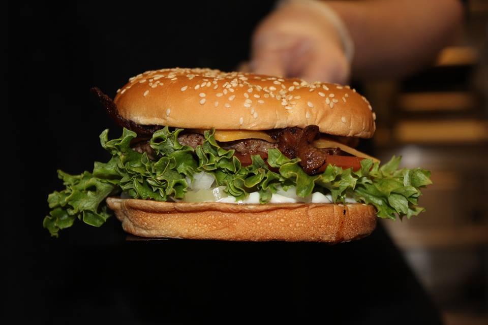 Burgerville bacon cheeseburger