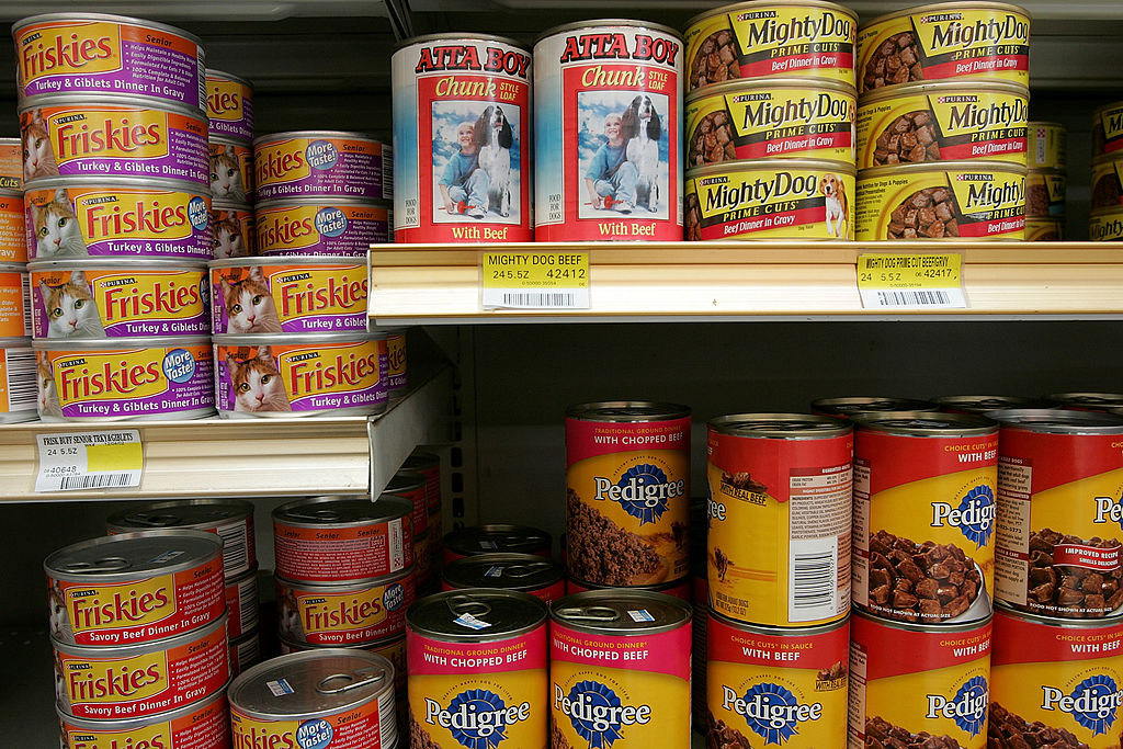 cans of pet food