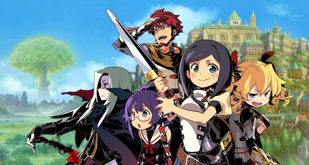 The heroes of Etrian Odyssey IV.